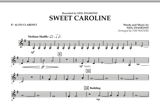Sweet Caroline - Eb Alto Clarinet (Concert Band)
