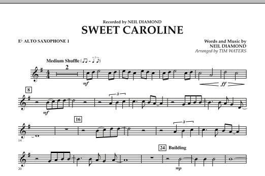 Sweet Caroline - Eb Alto Saxophone 1 (Concert Band)
