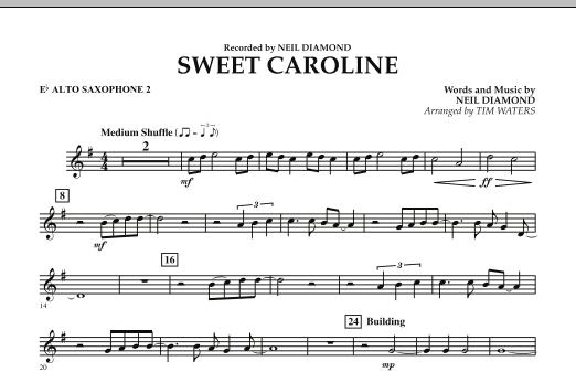 Sweet Caroline - Eb Alto Saxophone 2 (Concert Band)