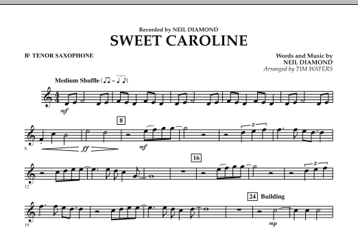 Sweet Caroline - Bb Tenor Saxophone (Concert Band)