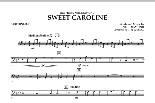 Sweet Caroline - Baritone B.C. (Concert Band)