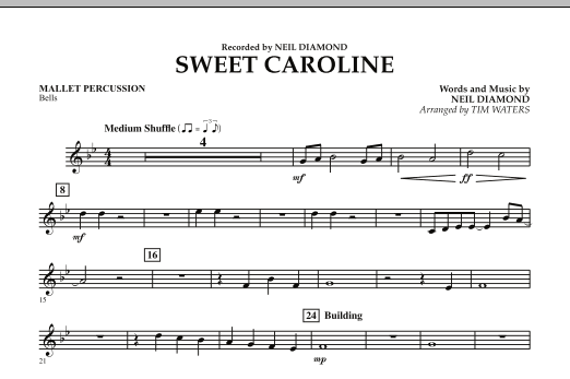Sweet Caroline - Mallet Percussion (Concert Band)