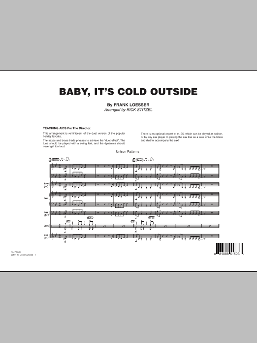Baby, It's Cold Outside - Full Score (Jazz Ensemble)