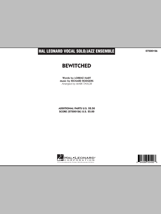 Bewitched (COMPLETE) sheet music for jazz band by Richard Rodgers, Lorenz Hart and Mark Taylor. Score Image Preview.