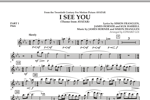 I See You (Theme from Avatar) - Pt.1 - Flute (Concert Band)