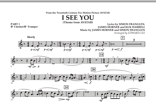 I See You (Theme from Avatar) - Pt.1 - Bb Clarinet/Bb Trumpet (Flex-Band)