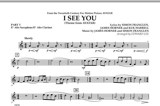I See You (Theme from Avatar) - Pt.3 - Eb Alto Sax/Alto Clar. (Concert Band)