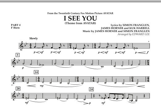 I See You (Theme from Avatar) - Pt.4 - F Horn (Flex-Band)