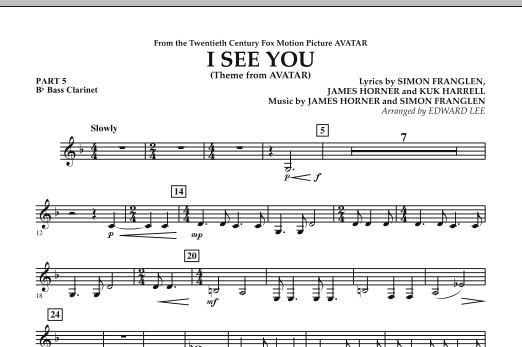 I See You (Theme from Avatar) - Pt.5 - Bb Bass Clarinet (Flex-Band)