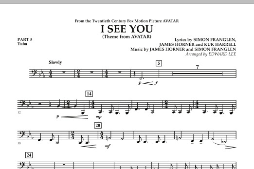 I See You (Theme from Avatar) - Pt.5 - Tuba (Flex-Band)