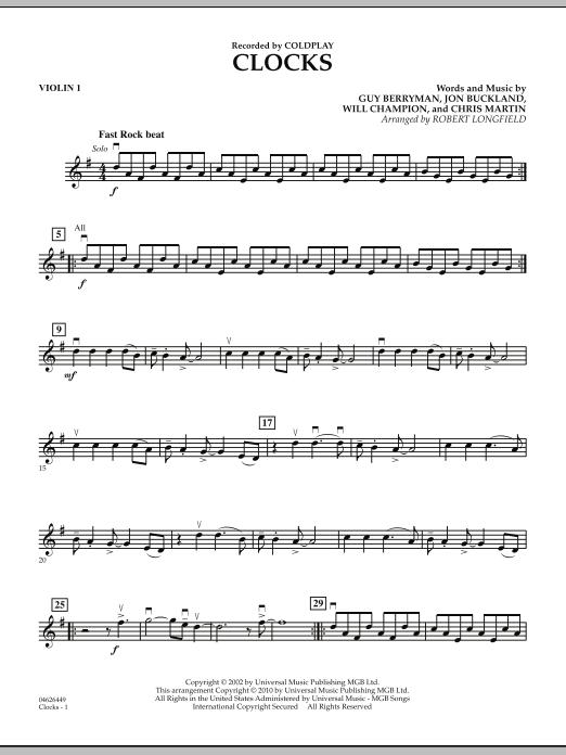 Clocks - Violin 1 (Orchestra)