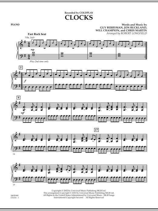 Clocks - Piano (Orchestra)