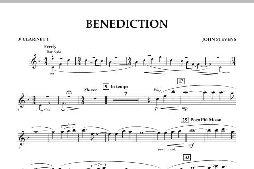 Benediction - Bb Clarinet 1 (Concert Band)