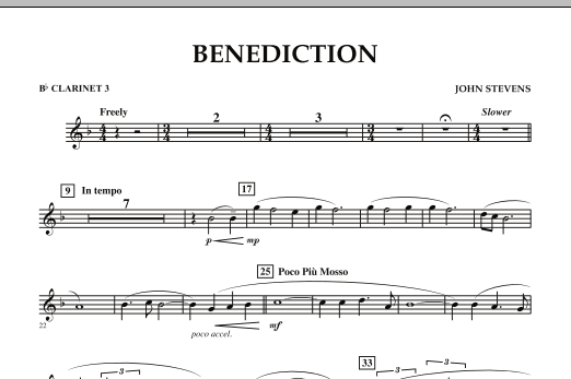Benediction - Bb Clarinet 3 (Concert Band)