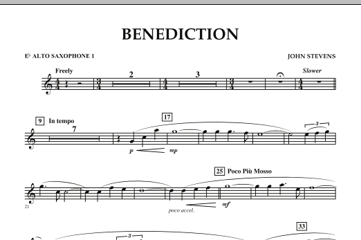 Benediction - Eb Alto Saxophone 1 (Concert Band)