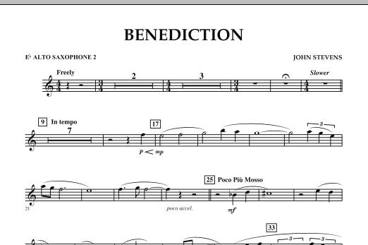 Benediction - Eb Alto Saxophone 2 (Concert Band)