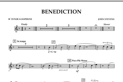 Benediction - Bb Tenor Saxophone (Concert Band)