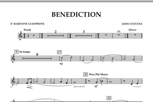 Benediction - Eb Baritone Saxophone (Concert Band)