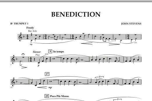 Benediction - Bb Trumpet 1 (Concert Band)