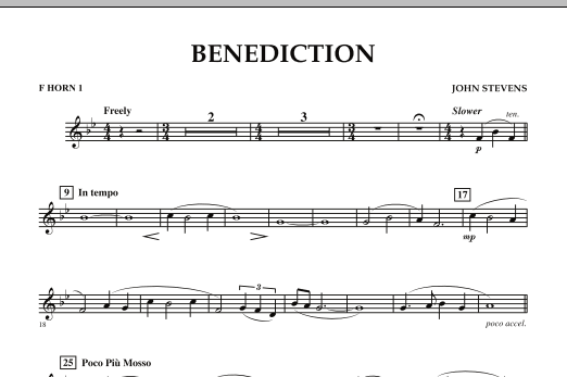 Benediction - F Horn 1 (Concert Band)