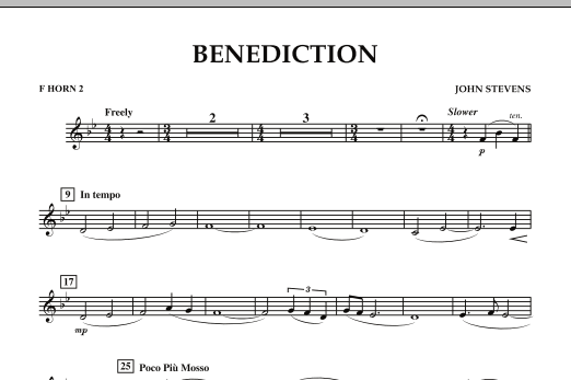 Benediction - F Horn 2 (Concert Band)