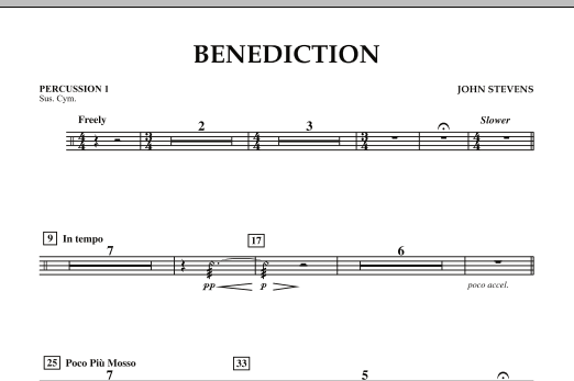 Benediction - Percussion 1 (Concert Band)