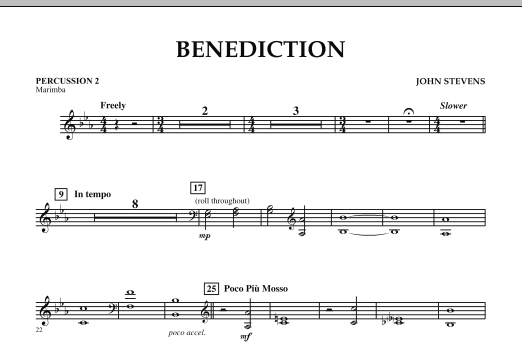 Benediction - Percussion 2 (Concert Band)