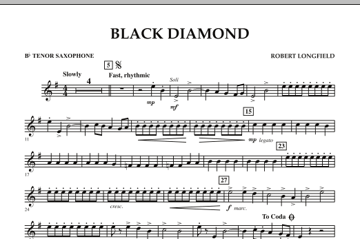 Black Diamond - Bb Tenor Saxophone (Concert Band)