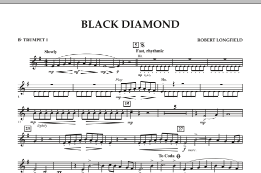 Black Diamond - Bb Trumpet 1 (Concert Band)