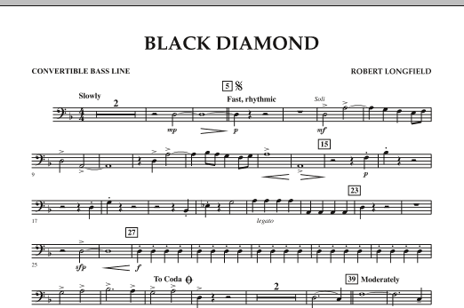 Black Diamond - Convertible Bass Line (Concert Band)