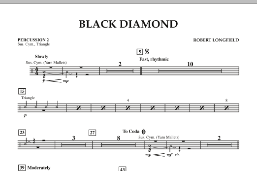 Black Diamond - Percussion 2 (Concert Band)