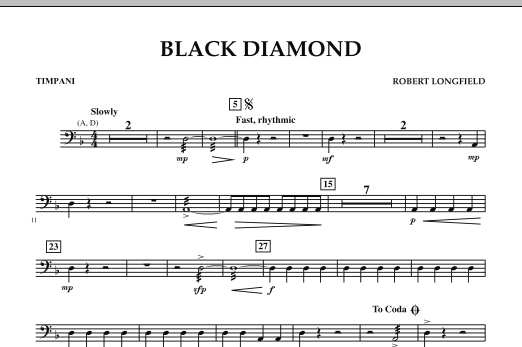 Black Diamond - Timpani (Concert Band)
