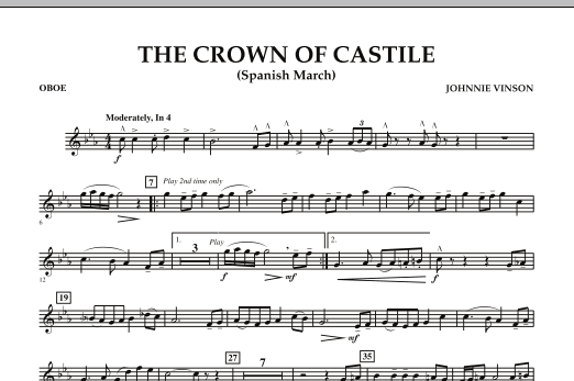 The Crown Of Castile - Oboe (Concert Band)