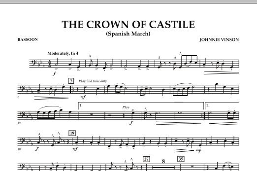 The Crown Of Castile - Bassoon (Concert Band)