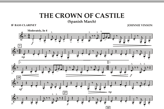 The Crown Of Castile - Bb Bass Clarinet (Concert Band)