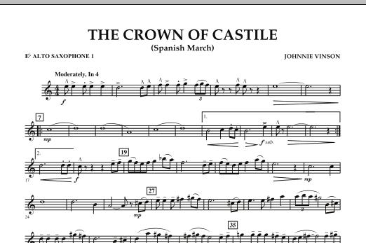 The Crown Of Castile - Eb Alto Saxophone 1 (Concert Band)
