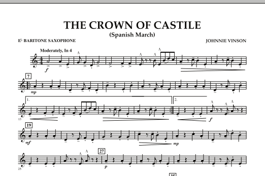 The Crown Of Castile - Eb Baritone Saxophone (Concert Band)