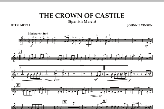 The Crown Of Castile - Bb Trumpet 1 (Concert Band)