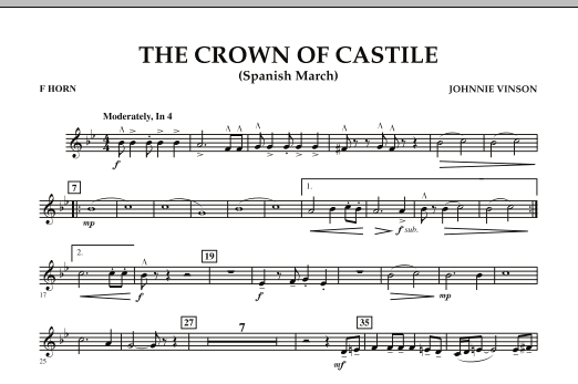 The Crown Of Castile - F Horn (Concert Band)