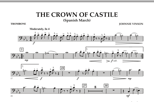 The Crown Of Castile - Trombone (Concert Band)