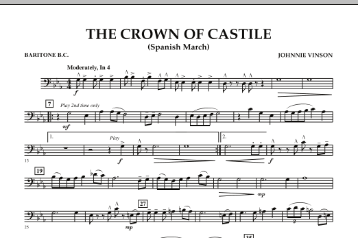 The Crown Of Castile - Baritone B.C. (Concert Band)