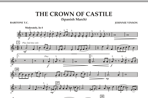 The Crown Of Castile - Baritone T.C. (Concert Band)