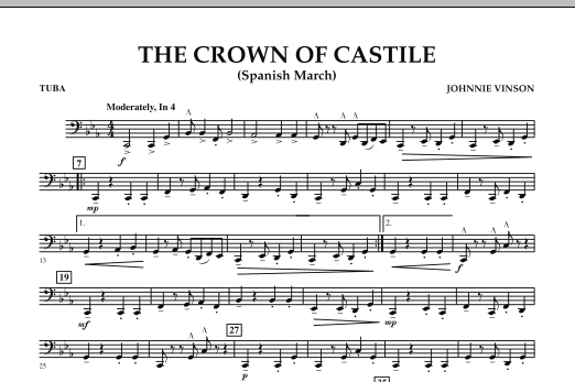 The Crown Of Castile - Tuba (Concert Band)