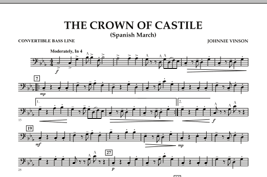 The Crown Of Castile - Convertible Bass Line (Concert Band)