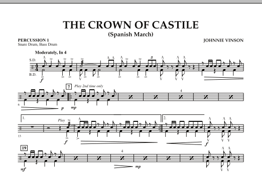 The Crown Of Castile - Percussion 1 (Concert Band)