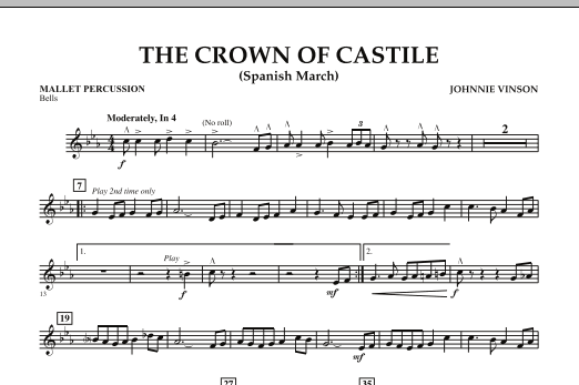 The Crown Of Castile - Mallet Percussion (Concert Band)
