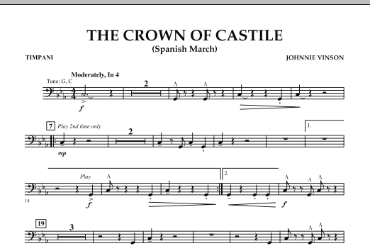 The Crown Of Castile - Timpani (Concert Band)