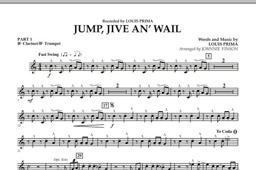Jump, Jive An' Wail - Pt.1 - Bb Clarinet/Bb Trumpet (Concert Band: Flex-Band)