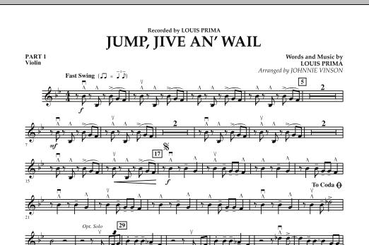 Jump, Jive An' Wail - Pt.1 - Violin (Concert Band: Flex-Band)