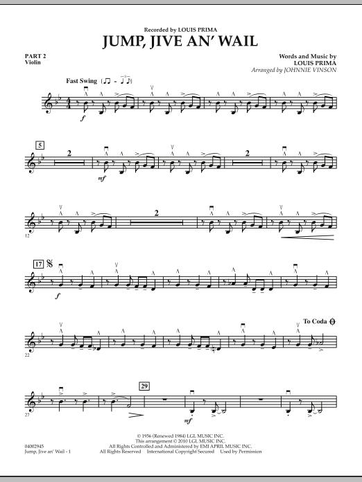 Jump, Jive An' Wail - Pt.2 - Violin (Concert Band: Flex-Band)